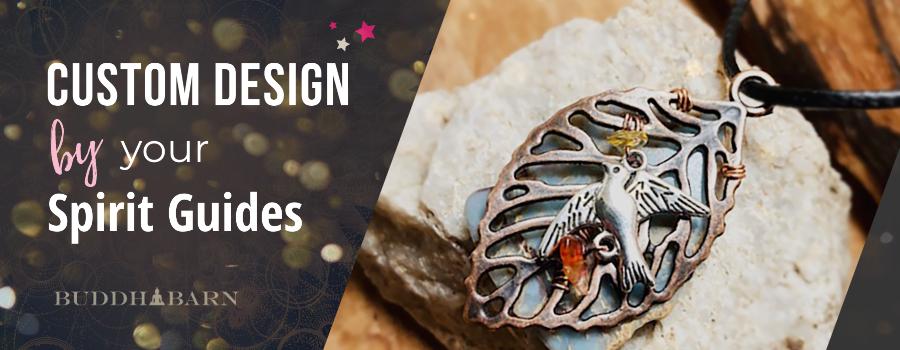 Custom pendants designed by Spirit Guides crystals